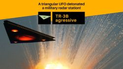 UFO attacked a military base. Aggressive triangular UFO